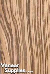 Paper Backed Zebrawood Veneer Quartersawn 4 X 8