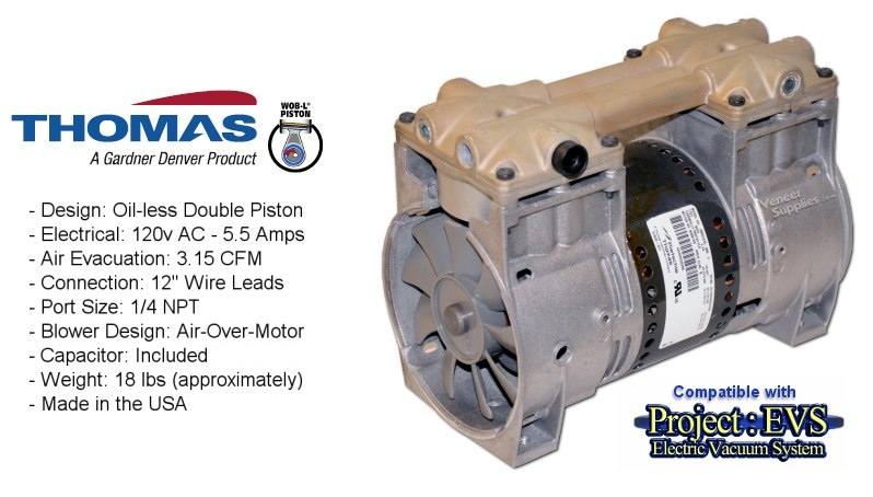 Rebuilt Thomas 3 15 CFM Vacuum Pump - $104 00 each