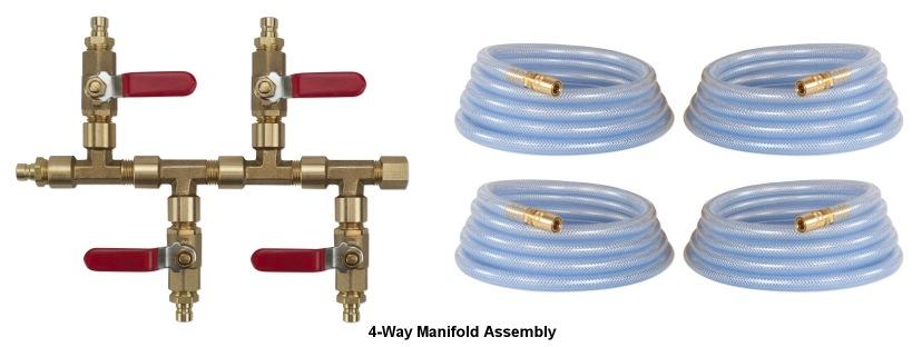 4 Way Manifold Kit