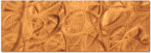 Free Form Circle Copper Patina Veneer Sheet