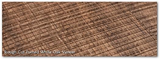 Rough Cut Fumed White Oak Wood Veneer