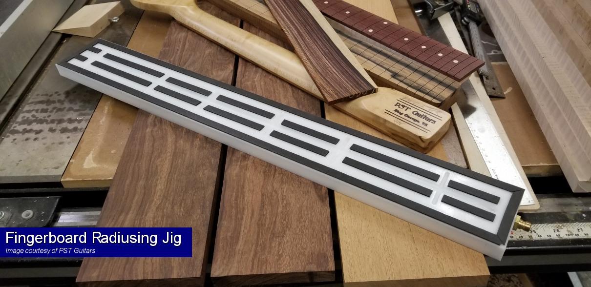 Vacuum Clamping Jig for Fingerboard Radius on Guitar