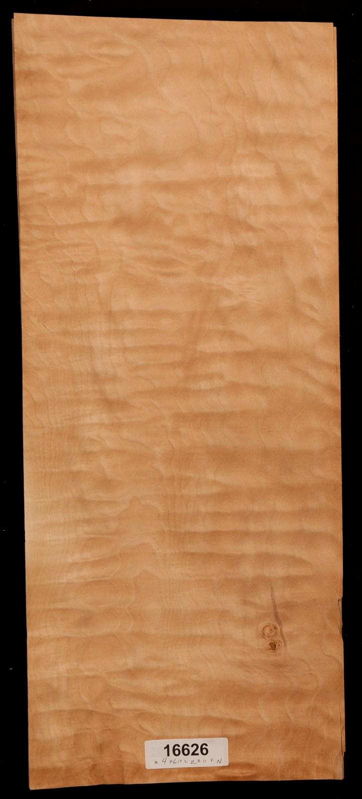Quilted maple wood veneer sheets